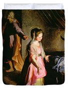 The Adoration Of The Child Duvet Cover