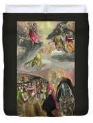 The Adoration Of The Name Of Jesus Duvet Cover