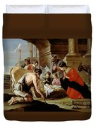 The Adoration Of The Shepherds Duvet Cover by Louis Le Nain