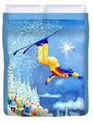 The Aerial Skier 18 Duvet Cover