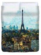 The Aesthetic Beauty Of Paris Tranquil Landscape Duvet Cover
