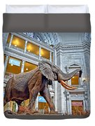 The African Bush Elephant In The Rotunda Of The National Museum Of Natural History Duvet Cover