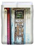 The Aged Door Duvet Cover