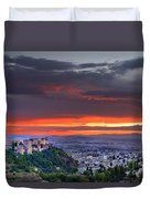 The Alhambra And Granada City Duvet Cover