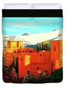 The Alhambra Of Granada Duvet Cover