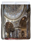 The Altar And Dome In St Peter's Basilica Duvet Cover