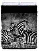 The Amazing Shot Of Zebra Duvet Cover