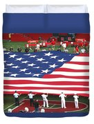 The American Flag Duvet Cover by Allen Beatty