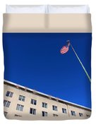 The American Flag At The United States Department Of State Duvet Cover