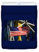Tribute To The American Flag Oil Industry Duvet Cover