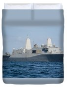 The Amphibious Transport Dock Ship Uss Duvet Cover