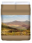 The Amphitheatre Of Tusculum And Albano Mountains. Rome Duvet Cover