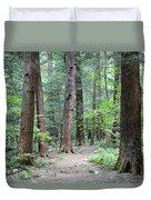 The Ancient Hemlock Forest Duvet Cover