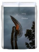 The Angel At Christmas Duvet Cover