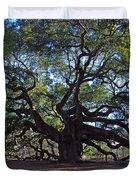 The Angel Oak In Spring Duvet Cover