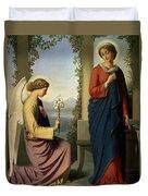 The Angelic Salutation Duvet Cover