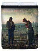 The Angelus Duvet Cover by Jean-Francois Millet