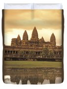 The Angkor Wat Temples In Siem Reap Duvet Cover