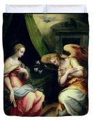 The Annunciation Duvet Cover by Giorgio Vasari