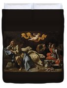The Annunciation To The Shepherds Duvet Cover