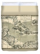 The Antilles And The Gulf Of Mexico Duvet Cover by Guillaume Raynal