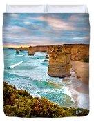 The Apostles Sunset Duvet Cover