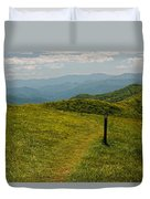 The Appalachian Trail Crossing Max Patch Duvet Cover