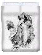 The Arabian Stallion Duvet Cover