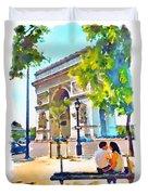 The Arc De Triomphe Paris Duvet Cover