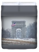 The Arch At Valley Forge Duvet Cover