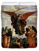 The Archangels Triumphing Over Lucifer Duvet Cover