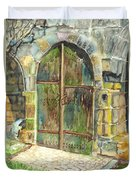 The Archways Of Bandouille 12th Century Monastery Sevres France Duvet Cover