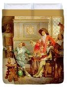 The Arrival Of D'artagnan Duvet Cover