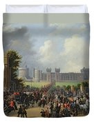 The Arrival Of Louis-philippe Duvet Cover