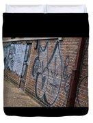 The Art On The Brick Duvet Cover