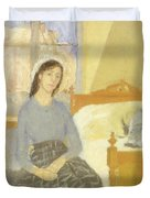 The Artist In Her Room In Paris Duvet Cover