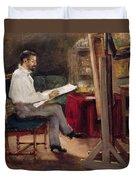The Artist Morot In His Studio Duvet Cover