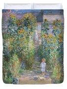 The Artists Garden At Vetheuil Duvet Cover