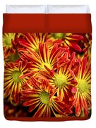 Chrysanthemum Bouquet Duvet Cover