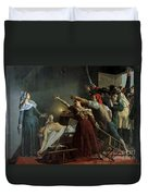 The Assassination Of Marat Duvet Cover by Jean Joseph Weerts