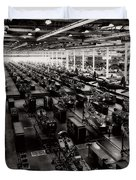 The Assembly Plant Of The Bell Aircraft Corporation In 1944 Duvet Cover