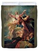 The Assumption Of The Virgin Duvet Cover by Jean Francois de Troy