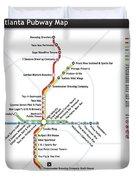 The Atlanta Pubway Map Duvet Cover