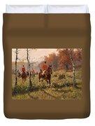 The Autumn Hunt Duvet Cover