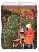 The Autumn Painter Duvet Cover