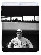 The Babe - Red Sox Duvet Cover