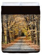 The Back Road In Autumn Duvet Cover