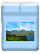 The Backside Of The Napali Coastline Duvet Cover