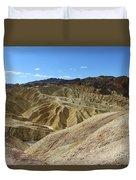 The Badlands Of Death Valley Duvet Cover