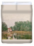 The Banks Of The Canal At Moret Sur Loing Duvet Cover